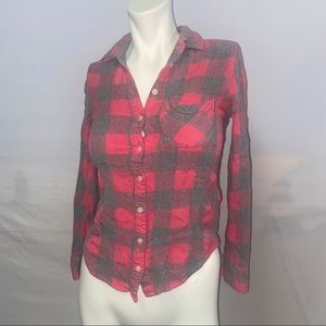 Aeropostale XS | TP Button Up Plaid Flannel Pink